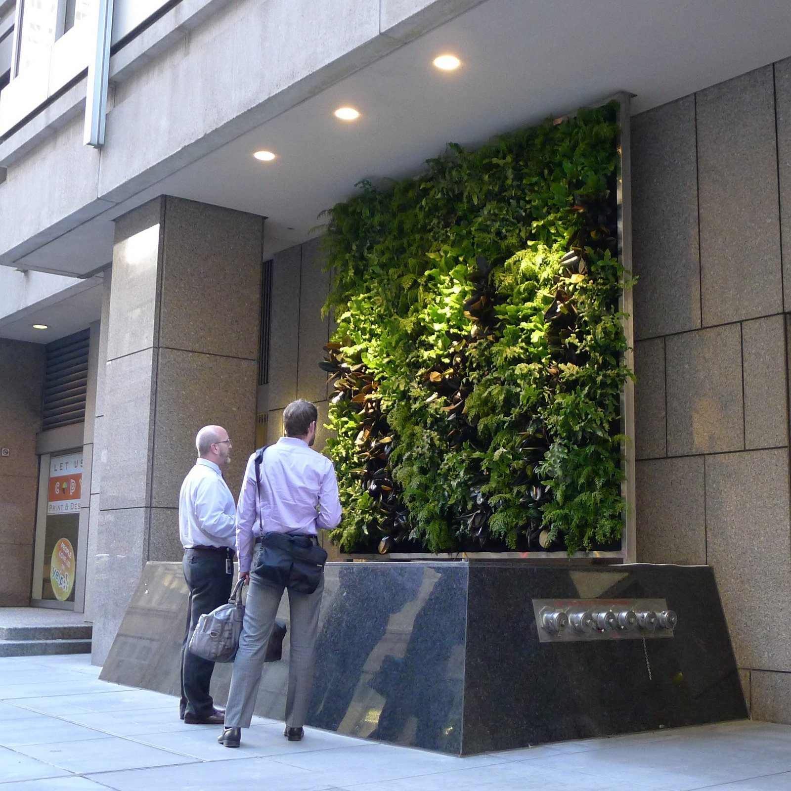 Chris Bribach, Plants On Walls. CBRE Office Towers, San Francisco. Florafelt System.