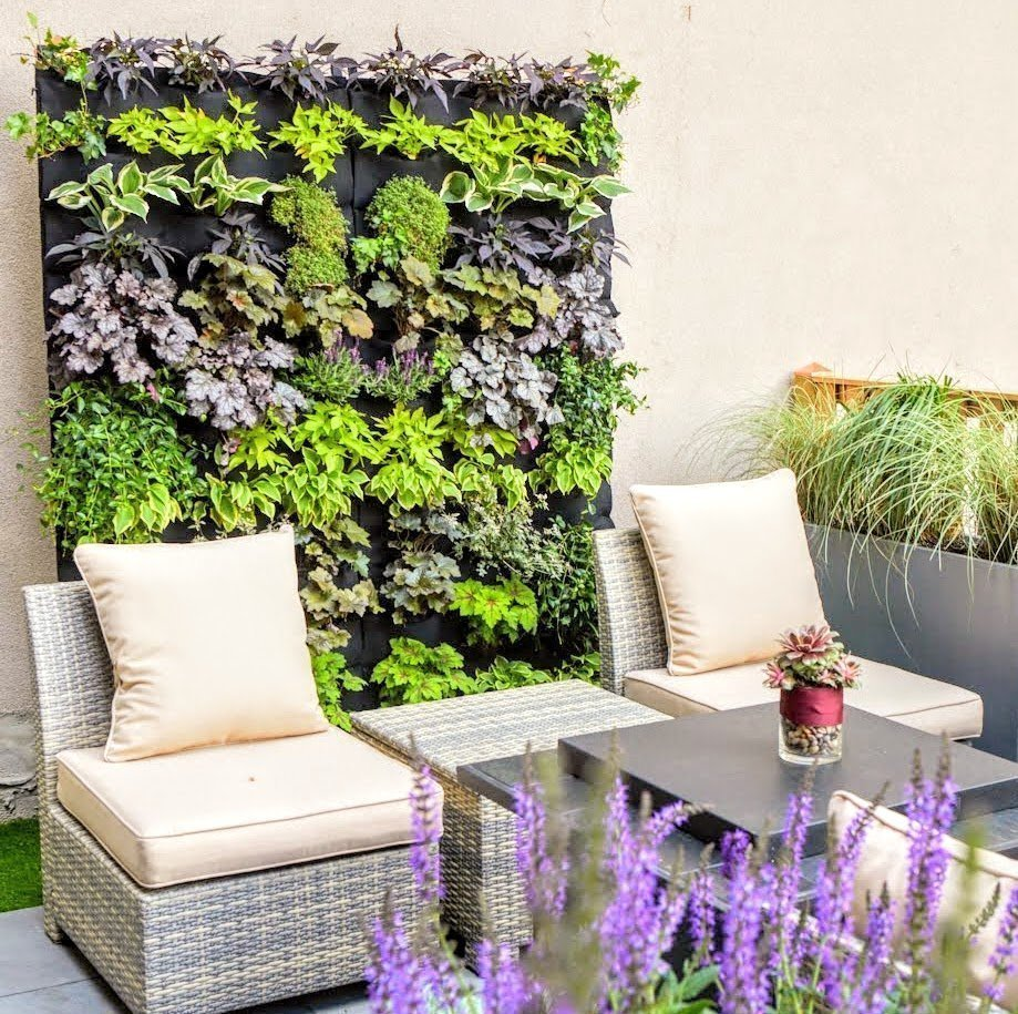 Florafelt Living Wall by Emma Lam of A Small Green Space, Jersey City. (photo meganmaloy.com)