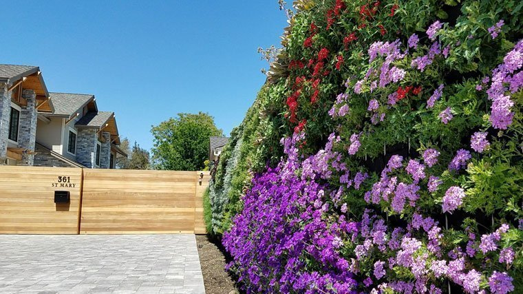 Florafelt Pro System living wall by Planted Design San Francisco