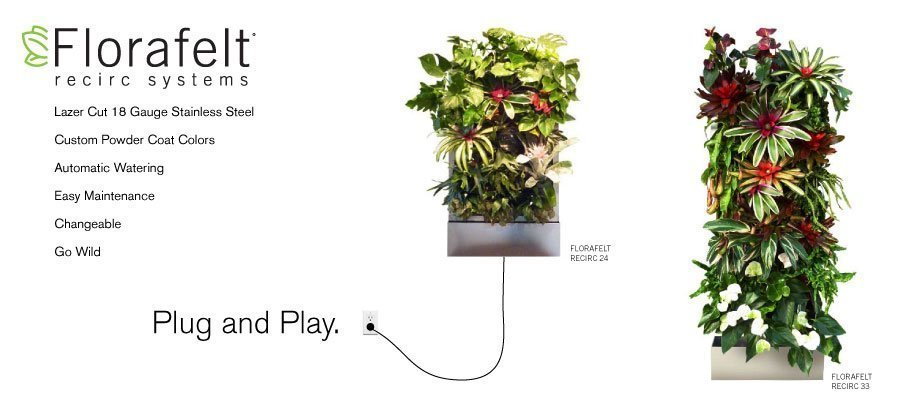 Florafelt Recirc Vertical Garden Living Wall Systems
